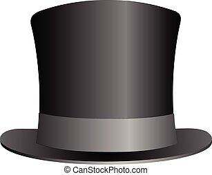 Schwarzer Hut.