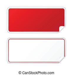 Schwarzer roter Sticker