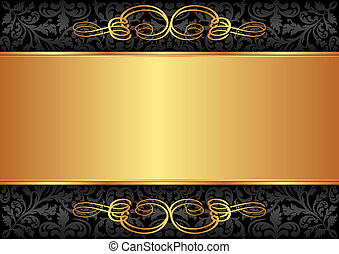 Schwarzer und goldener Hintergrund