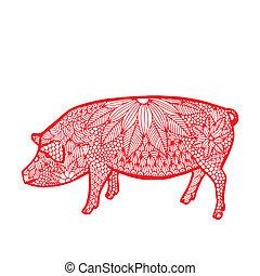 Schwein - chinesisches Tier