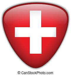 Schweiz-Flagge-Knopf