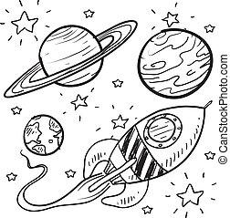 Science-Fiction Objekte zeichnen