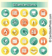 Science Icons Silhouetten