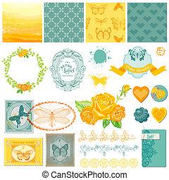 Scrapbook Design Elemente - klassische Ombre Schmetterlinge - in Vektor.