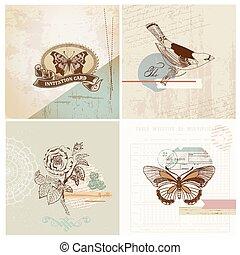 Scrapbook Design Elemente - Vintage Paper Set - in Vektor.