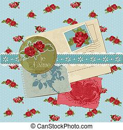 Scrapbook-Elemente - klassische Blumen im Vektor
