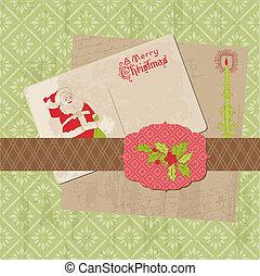 Scrapbook Weihnachts-Design Elemente in Vektor.
