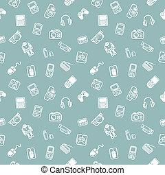 Seamless Gadgets Hintergrund-Stimme