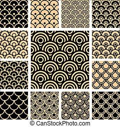 Seamless geometrische Muster eingestellt.