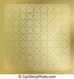 Seamless Golden Damask Tapete