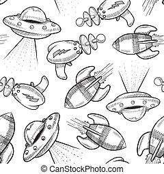 Seamless Science-Fiction Hintergrund