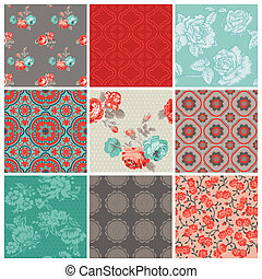 Seamless Vintage-Blumen-Hintergrund für Design und Sammelalbum - im Vektor