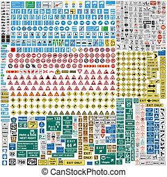 sechs, verkehr, europäische , zeichen & schilder, hundert, als, mehr