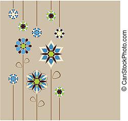 Seemlose Blumen-Rückwand