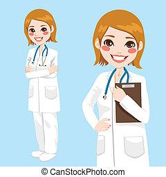 Selbstbewusste Ärztin