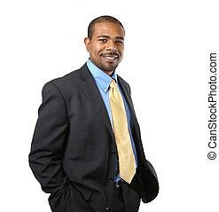 Selbstbewusster afroamerikanischer Geschäftsmann