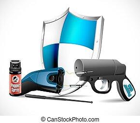 Selbstverteidigungswaffen - Taser.