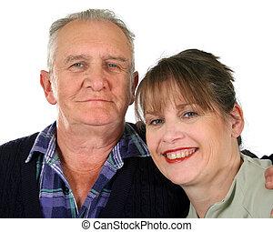 Senior Mann mit Tochter