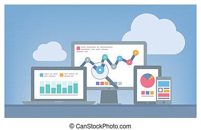 seo, web, begriff, analytics
