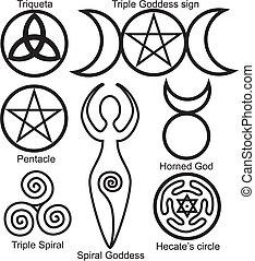 Set der Wicca-Symbole