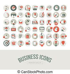 Set von Flat Design Business Icons
