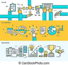 Set von Flat Design Business Konzepte
