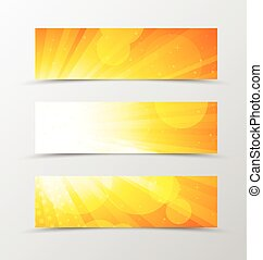 Set von Header Banner dynamische Design