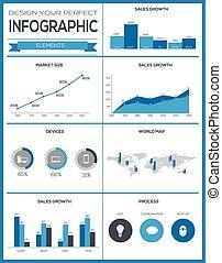 Setzt Elemente von Infographien
