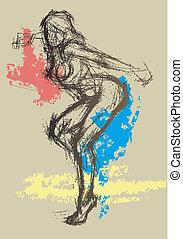Sexy abstrakte Zeichnung 1