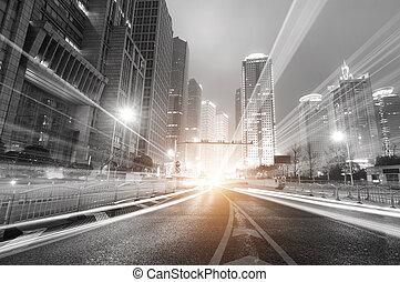 Shanghai lujiazui, Finanz- und Handelszone moderner Nachtschicht