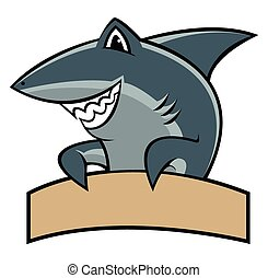 Shark Cartoon Maskottchen.