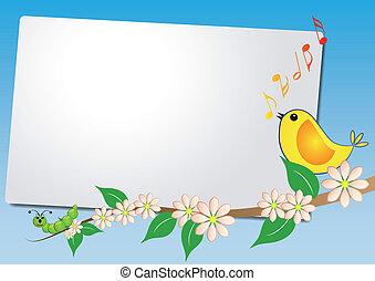 Sheet mit Vogellied