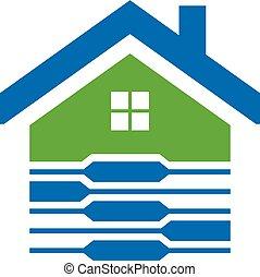 Sicheres Haus-Logo.