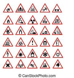 sicherheit, zeichen & schilder