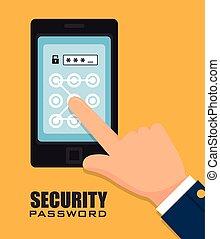 Sicherheits-Digitaldesign.
