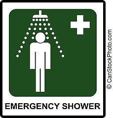 Sicherheitszeichen, Notfalldusche.