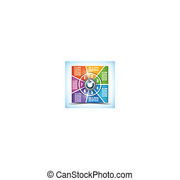 Sieben Bühnenfarben wechselndes Arbeitsblatt