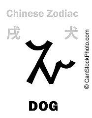 (sign, hund, zodiac), astrology:, chinesisches