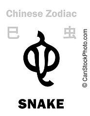 (sign, zodiac), chinesisches , schlange, astrology: