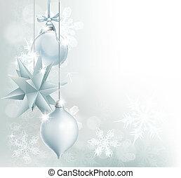 Silberblaue Schneeflocken-Weihnachtsschnecke