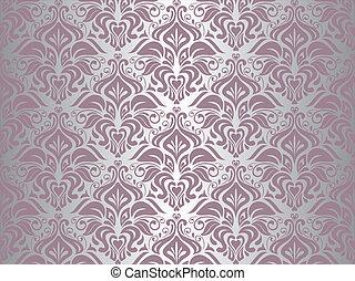 Silberne und rosa Tapeten-Hintergrund