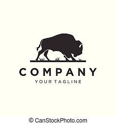 Silhouette Bull Logo Designs.
