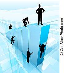 Silhouette Business People Wettbewerbskonzept