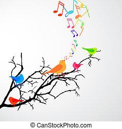 Singende Vögel