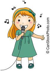 Singender Junge