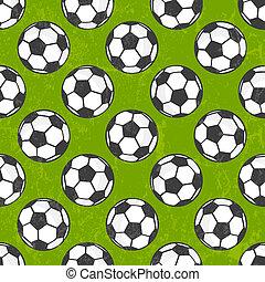 Sitzloses Fußballmuster, Vektorhintergrund.