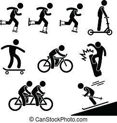 Skating und Reitaktivität