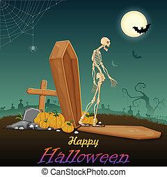 Skelton in Halloween