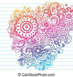 Sketchy-Doodles-Blumenvektor