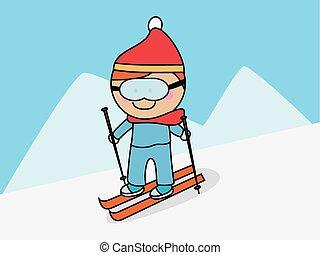 Skifahren Schnee.